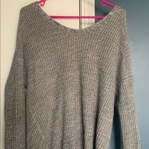Grey scoop neck sweater